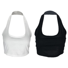 Women Cotton Halter Neck Vest Cami Strapless T-Shirt Crop Tops Fashion Sexy New