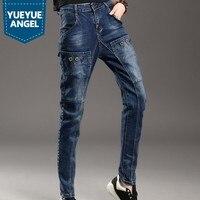 2019 New Autumn Harem Loose Jeans Women Embroidery Korean Female Denim Pants Solid Drop Baggy Pants High Waist Trousers Girl
