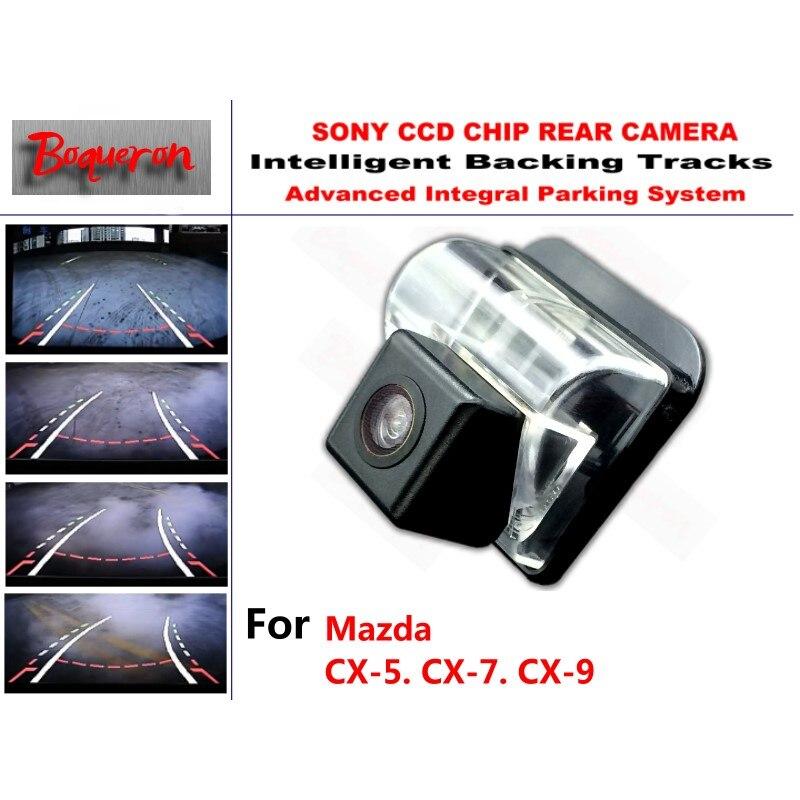 Pour Mazda CX-5 CX-7 CX-9 CX 5 CX 7 CX‑9 CCD Voiture Sauvegarde Caméra de Stationnement Intelligent Pistes Guidage Dynamique Caméra de Recul