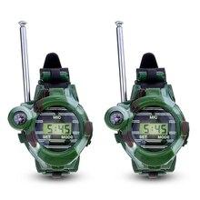 Горячая Распродажа 1 пара ЖК-дисплей радио 150 м часы рация 7 в 1 Детская часы-радио открытый домофон игрушки (Цвет: зеленый)