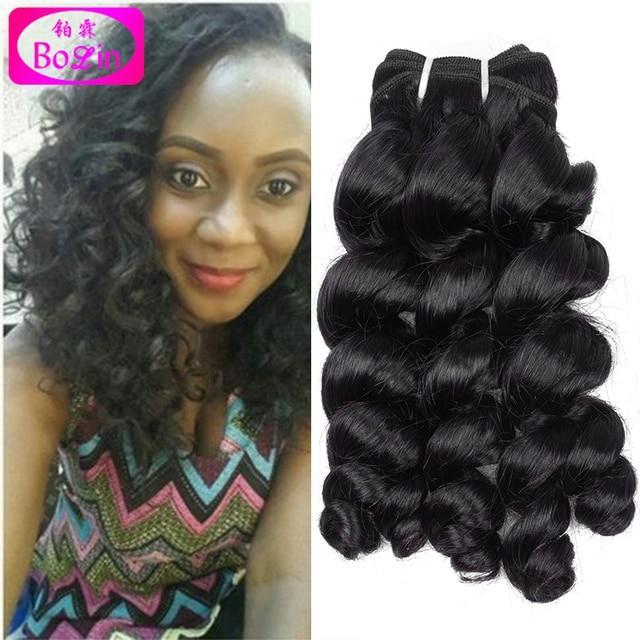 Nigeria Aunty Curly Hair Unprocessed Human Hair Extension Brazilian