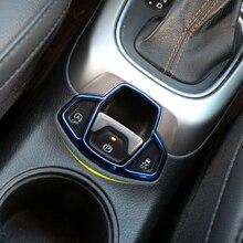 Embellecedor de cubierta de botón de freno de mano para consola central Interior de coche Zlord, pegatinas para Jeep Compass 2017 2018 Renegade 2015-2017