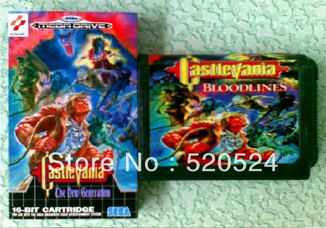 Castlevania - The New Generation For Sega Mega Drive Video Game console system 16 bit card with collector box MD