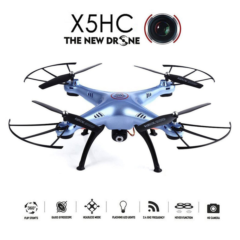 SYMA X5HC Drohne 2.0MP HD Camera Aviao Drones RC Quadcopter Headless Mode High Hold Mode Function 2.4GHz 4CH 6 Axis Gyro Drone free shipping rc drone jjrc v686k 6 axis gyro 2 4g 4ch fpv quadcopter wifi ufo with hd camera airplane vs syma x8w h9d cx 30w
