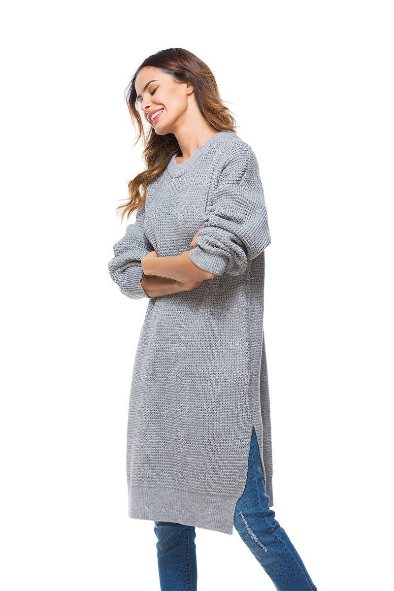 Fall Winter Vintage Mustard Side Slit Crochet Sweater Dress for Women Cute Ladies Retro Cosy Loose Split Pullover One Size 17