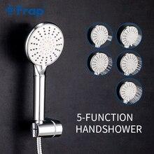 Frap 5 Modo Handheld Poupança de Água Chuveiro Conjunto de Banheiro ABS Spray Pressurizado Chuveiro Do Banheiro Com Suporte & Mangueira IF306