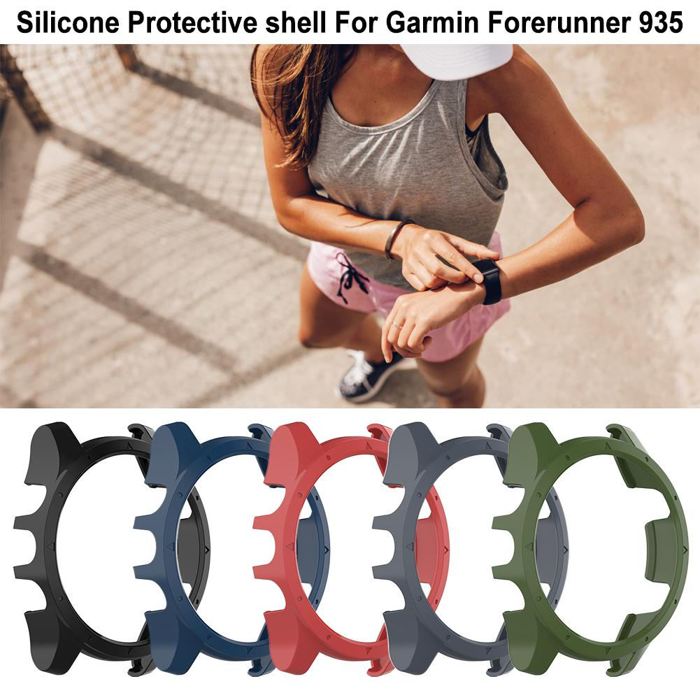 Image 2 - Silicone Protector Case Cover Shell Protective Shell Smart Watch Easy To Install And Remove For Garmin Forerunner 935-in Smart Accessories from Consumer Electronics