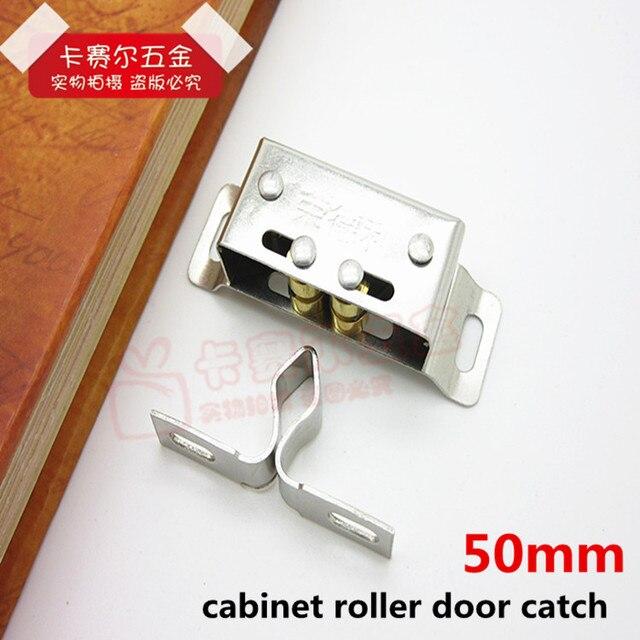 Roller Cabinet Cupboard Door Latch Magnetic Catch Holder Wardrobe Stainless Steel