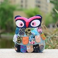 New Arrive Vintage Embroidery Canvas Ethnic owl Bag handmade cotton Girl Small Mini Travel backpack Rucksack