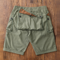 Red Wind Vintage WW2 P-44 Military Shorts For Men US Army Loose Monkey Green