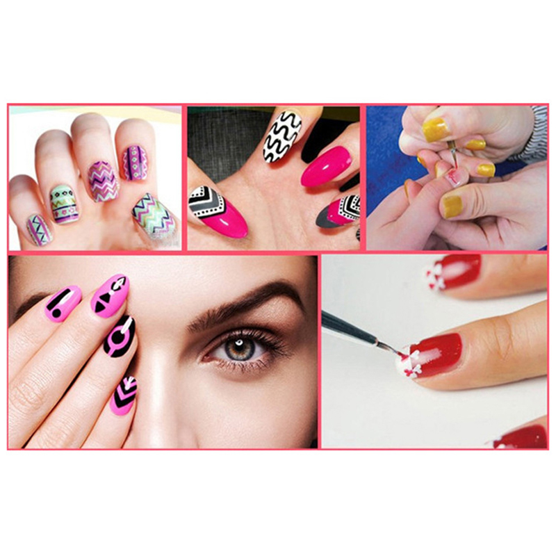 New Design Salon Using Nail Art Flower Painting Brush Pen 7mm 14mm Long Nail Tools in Nail Brushes from Beauty Health