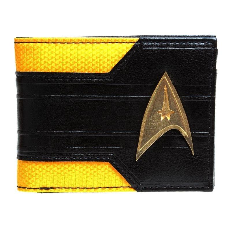 Star Trek Command metal logo Bi - a Fold Wallet  DFT-1404 captain america black metal badge bi fold wallet faux leather dft 1413