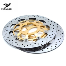 CNC Motorcycle Front Floating Brake Disc Rotor & Rear Brake Disc Rotor For Honda CBR600 cbr 600 2007 2008 2009 2010 2011-2013 1 pcs for moto guzzi v7 classic 750 2008 2009 2010 2011 2012 2013 nevada 750 cnc floating front brake disc rotor brake disk