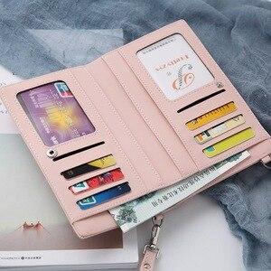 Image 2 - 2019 חדש נשים מזדמנים ארנק מותג טלפון סלולרי ארנק גדול כרטיס מחזיקי ארנק תיק ארנק מצמד שליח כתף רצועות תיק