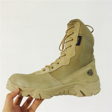 Men's Desert Camouflage Military Tactical Boots Genuine Leather Men Outdoor Combat Army Boots Botas Militares Sapatos Masculino