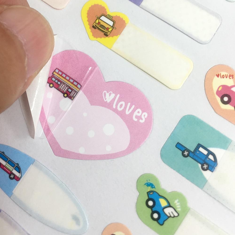 Купить с кэшбэком Name Stickers Baby Lunch Box Water bottle Labels Write-on Self-Laminating Waterproof Car Pattern Sticker Daycare School Travel