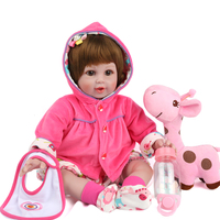 55cm Silicone Reborn Doll Children Soft Toys Realistic Doll Playmate For Infants Wholesale Bathable Reborn Princess Dress Baby