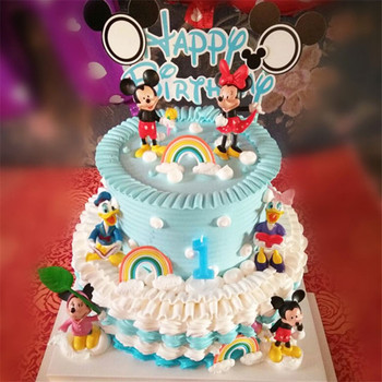birthday minnie mickey decoration cake topper toys for baby kids boys children gift girls kids mickey birthday cupcake toppers stitch animal birthday cake topper kids toys boys baby children birthday party small gifts decoration party cupcake toppers