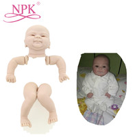 NPK 17inch Reborn Baby Doll Kits With EU Standards Quality Lifelike Bebes Reborn Doll Kits For Kids As Christmas Gift DIY Toys