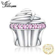 JewelryPalace Cupcake 925 Sterling Silver Beads Charms Silver 925 Original For Bracelet Silver 925 original Beads Jewelry Making(China)