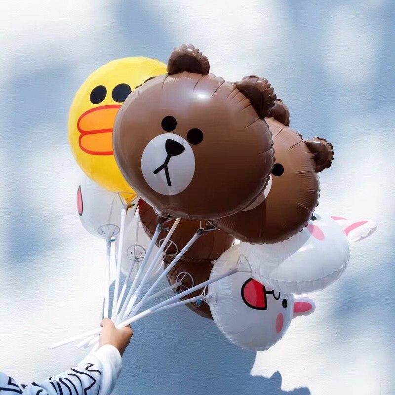 Большой пластиковый воздушный шар ZOCDOU, 1 шт., 16 дюймов, с мультяшным рисунком, медведя, кролика, утки, друга, вечерние шарики Globo, детский балон на день рождения-0