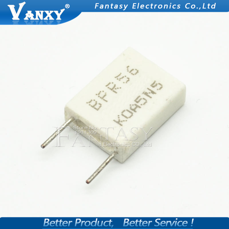 Купить с кэшбэком 10pcs BPR56 5W 0.001 0.1 0.15 0.22 0.25 0.33 0.5 ohm Non-inductive Ceramic Cement Resistor 0.1R 0.15R 0.22R 0.25R 0.33R 0.5R