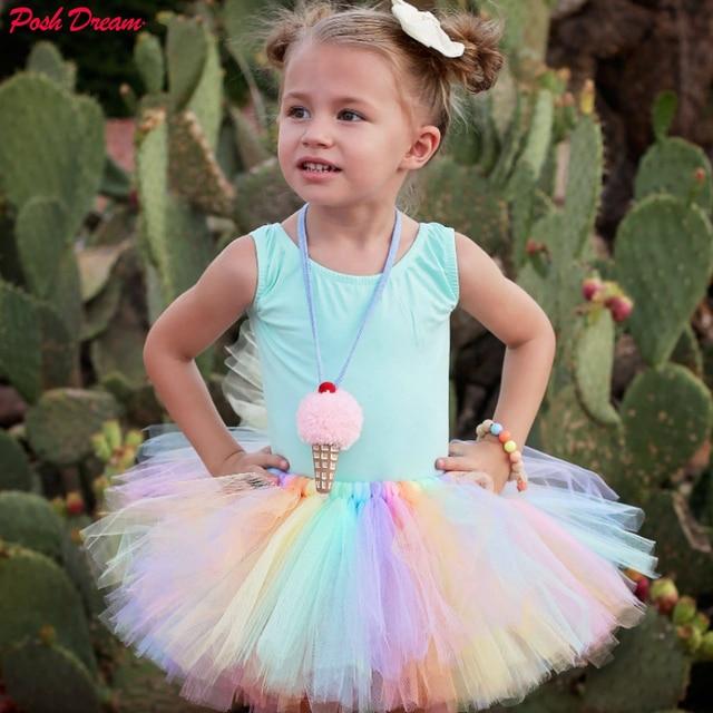 690e435b9e49 POSH DREAM New Brand Baby Girl Clothes Pink Tutu Skirt Kids Princess ...