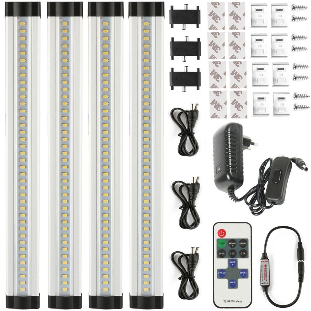 Barre de LED lumière sans couture reliant la bande LED rigide smd 2835 LED lumière de cuisine sous l'évier de placard de Cabinet 12 V 4*30 cm/33 LED s + PC