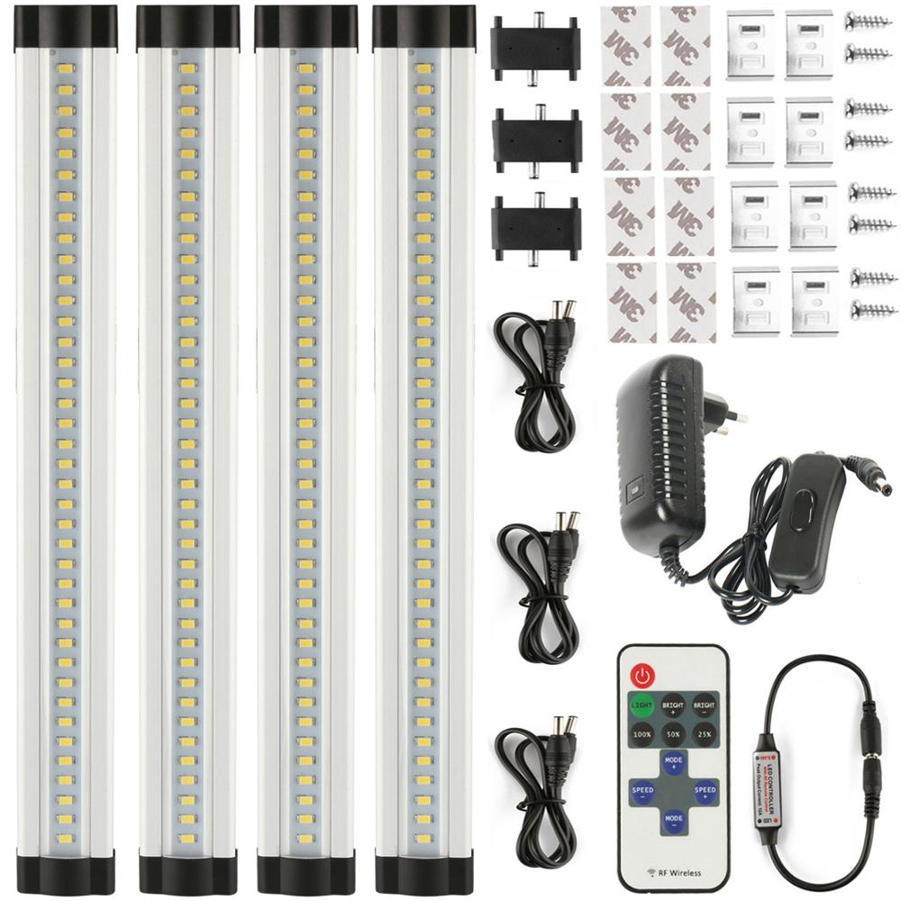 LED Bar Light Seamless Connecting Rigid LED Strip Smd 2835 LED Kitchen Light Under Cabinet Closet Sink 12V 4*30cm/33leds+PC