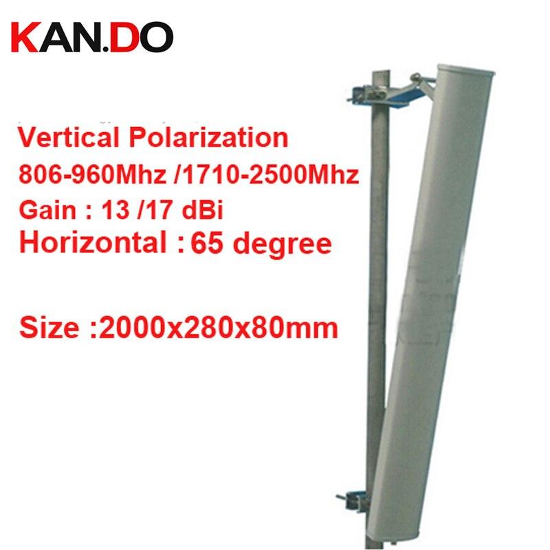 2M Long 12dbi Vertical Polarization GSM Antenna 806-2500mhz Base Station Use CDMA GSM 3G Antenna FDD LTE Antenna 4G Antenna LTE
