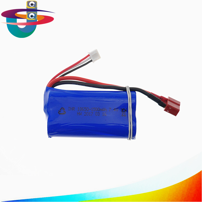 7.4V 1500mAh lithium battery For Udi U12A Syma S033g Q1 Tianke H100 7.4 lithium Battery 18650 7.4 V 1500mah 15C four axis aircraft lithium battery accessories for udi u842 u842 1 u818s helicopter 3pcs battery and 6 in 1 charger