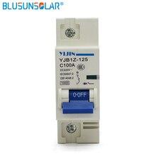 Прямая с фабрики 5 шт./партия 1 P 100A DC220V постоянного тока выключатель MCB для фотоэлектрическая солнечная система