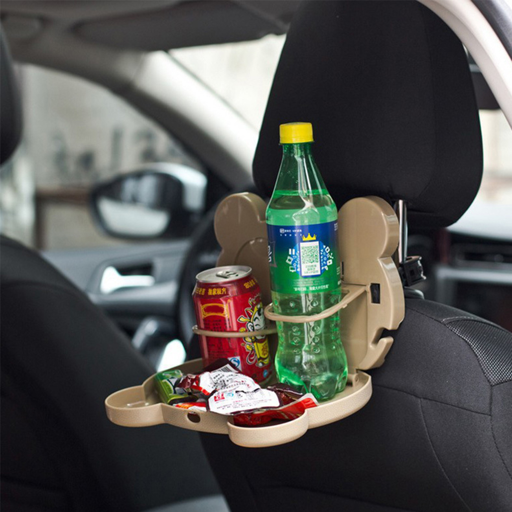 Car Chair Back Storage Box Auto Organizer Tissue Cups Drink Food Holder Hanging Stowing Tidying Foldable Shelf
