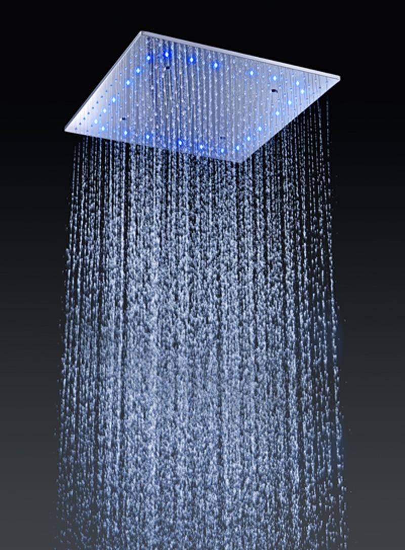 6 Massage Jets SUS 304 Bathroom Ceiling Overhead Rain shower Set ...
