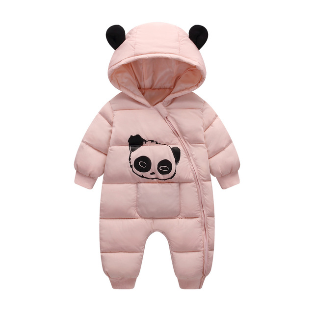 2018 new bron cold Winter Panda Baby costume Rompers Overalls Jumpsuit Newborn Girl clothes Boy Snowsuit Kids infant Snow Wear