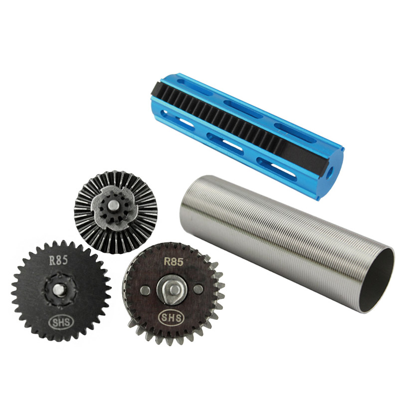 Hunting Accessories CNC Aluminum 19 Teeth Piston Stainless Steel Cylinder R85 Gear Set For R85 L85 Airsoft AEG