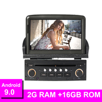 7 inch Android 9.0 Car DVD Player for Peugeot 307 2007 2011 GPS Navigation Bluetooth USB Multimedia Free Map FM Radio