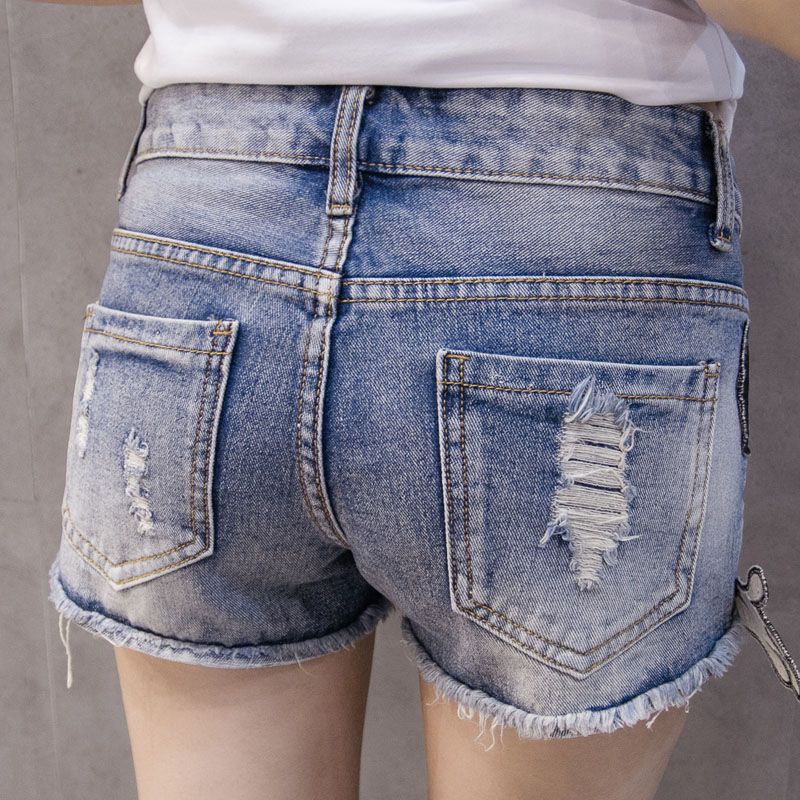 d6f14193194 Preppy Style 2018 Summer New Arrival Cartoon Sequins Denim Shorts Women  High Waist Jeans Shorts Plus Size Short Jeans Feminino-in Shorts from  Women s ...