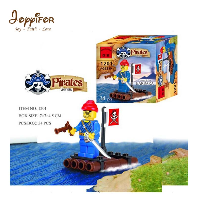 Joyyifor Sea Pirates Cyclops Small Wood Gun Sword Treasure Skeleton Building Blocks Bricks Figures Toys Compatible Legoingly