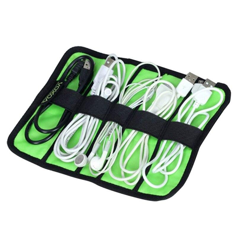 Prenosna torba za organizator kablov Mini velikost USB kabli - Organizacija doma
