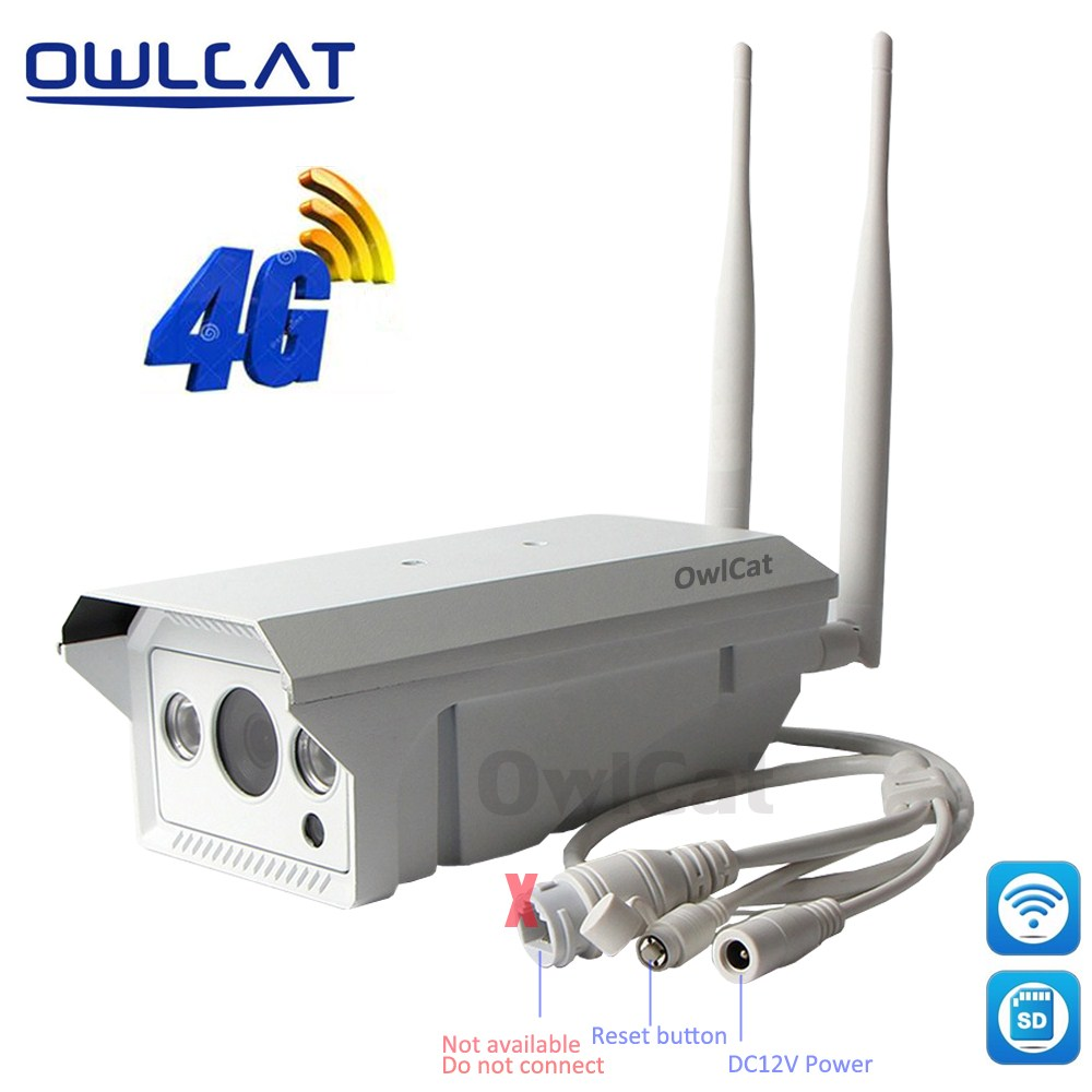 Owlcat Wifi Outdoor Wireless 3G 4G SIM Card IP Camera HD 1080P P2P AP mode Security CCTV Camera Max 128G Micro SD Card Storage ahwvse yoosee full hd 1080p wifi ip camera onvif p2p email alert wireless wired cctv outdoor camera sd card slot max 64g