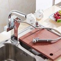 Kitchen Faucets New Design 360 Degree Rotation Torneira Cozinha Mixer Pull Out Chrome Brass Sink Mixer
