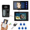 7 Video Intercom Doorbell Camera Wifi Wireless Wired Video Door Phone For Home 2 Monitors RFID