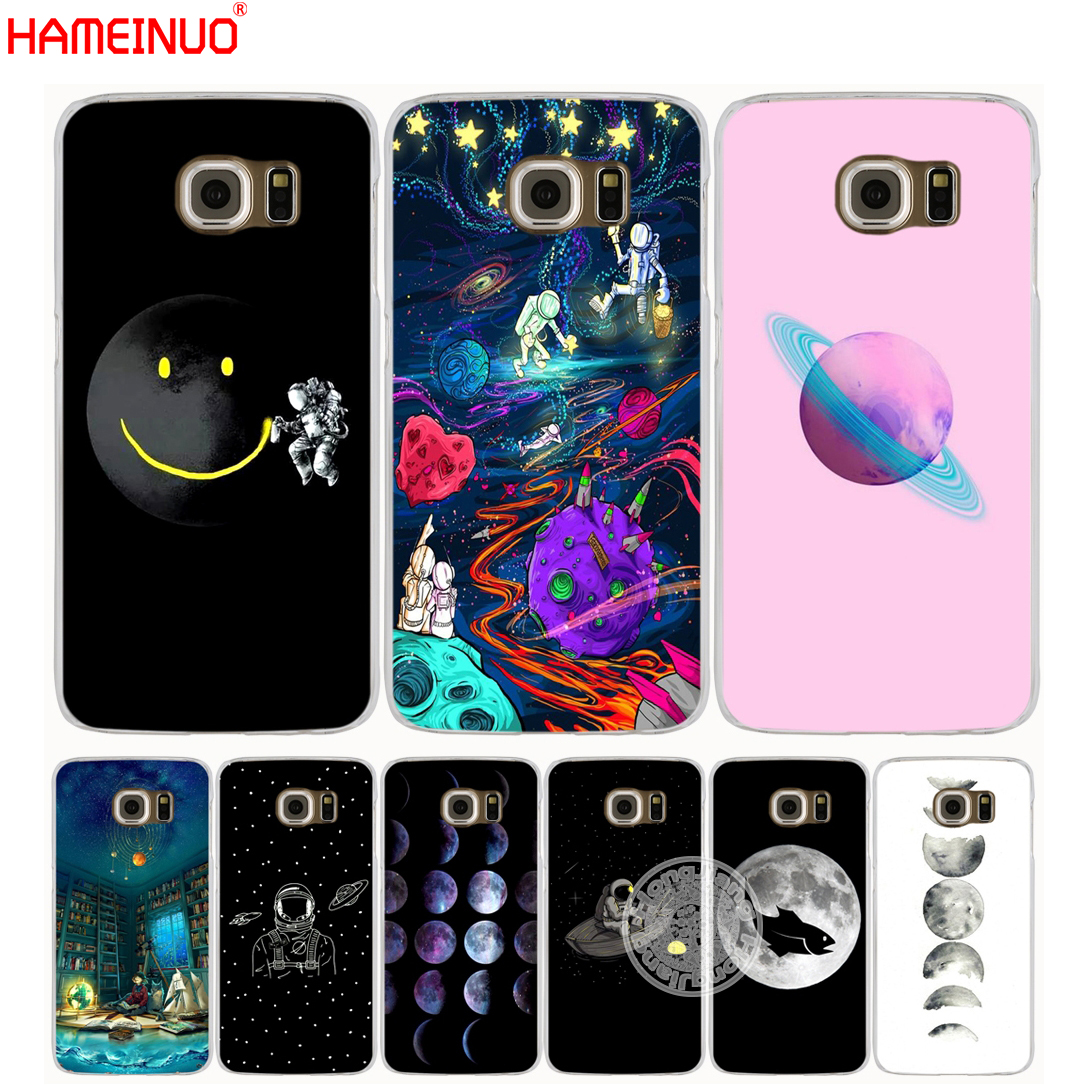Hameinuo Space Love Moon Astronaut Phone Case Cover For Samsung Galaxy A3 A310 A5 A510 A7 A8 A9 2016 2017 2018 Ample Supply And Prompt Delivery Half-wrapped Case