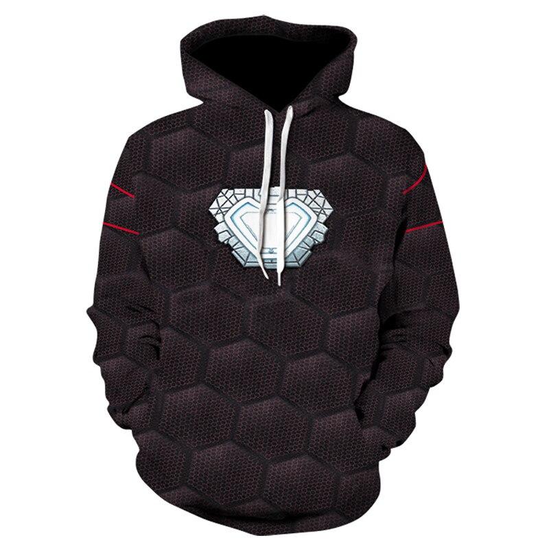 Avengers Hoodies Men 2018Brand Male Long Sleeve Solid Color Hooded Sweatshirt Mens Hoodie Tracksuit Sweat Coat Casual Sportswear