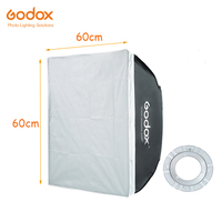 Godox SB BW 60*60cm 23.6 Softbox with Bowens Mount White Diffuser Portable Square Reflector for Flash