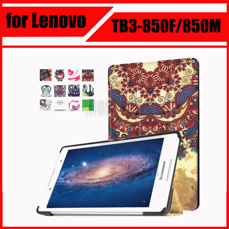 Magnetic Stand pu leather Case for Lenovo tab 3 8.0 Model TB3-850F/850M 2016 tablet cover cases + Screen Protectors free shipping new 10 1 original stand magnetic leather case cover for lenovo ibm thinkpad 10 tablet pc with sleep function