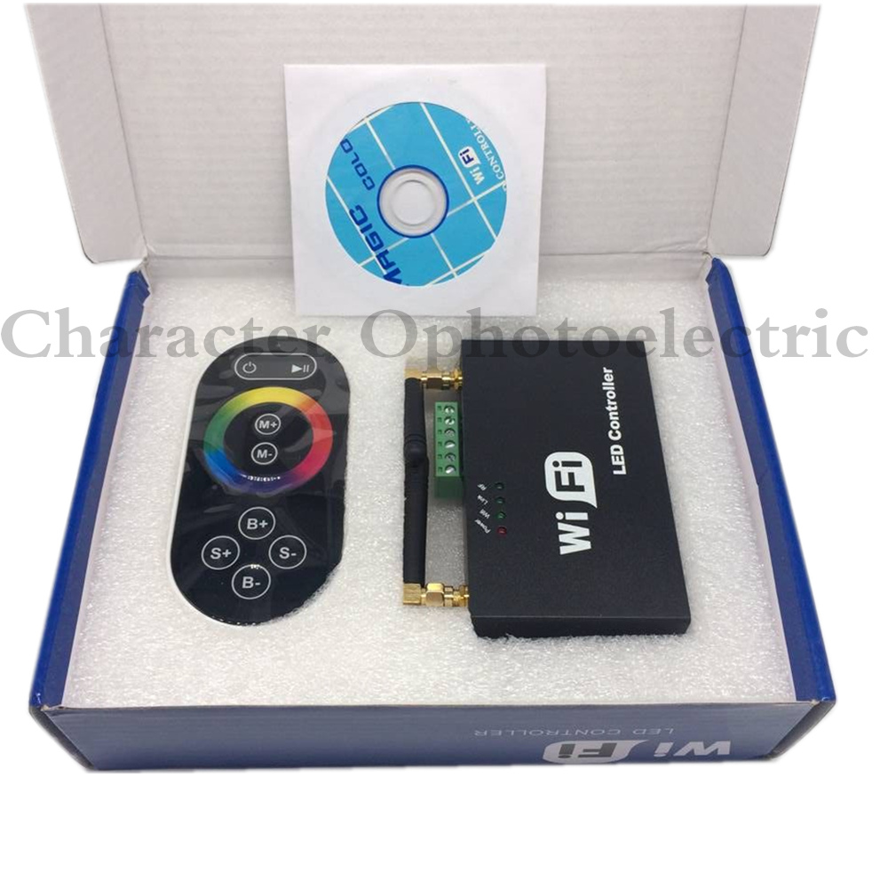 WiFi 104 LED wifi master RGB ES controller mit M12 LED fern 2,4 GHz Wi Fi unterstützt max 12 zonen steuern, WIFI LED Controller - 3