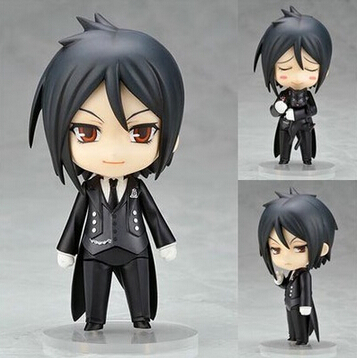 NEW Hot 10cm Q Version Black Butler Sebastian Michaelis Mobile Action Figure Toys Collection Christmas Toy Doll