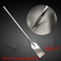 Large long soup milk mix chef Canteen rice mixing rod stick stainless steel Oars Spoon Fork Spiral Pattern Long Swizzle Stick